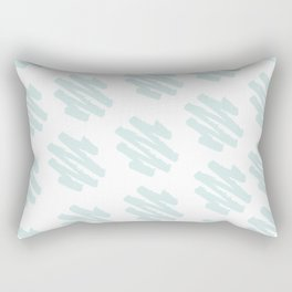 Paint Zig Zag Print Rectangular Pillow