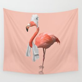 Squeaky Clean Flamingo Wall Tapestry