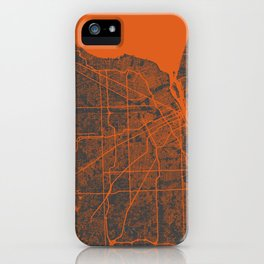 Detroit map iPhone Case