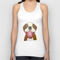 pit bull Tank Tops featuring Pit Bull Pride by Kat Lyon