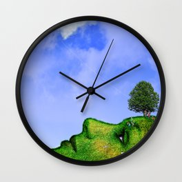 Mother Nature Smiling Wall Clock
