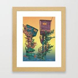 Treehouses 1  Framed Art Print
