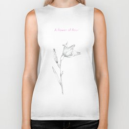 A flower of flour Biker Tank