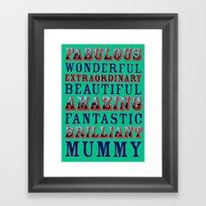 World's best mother Framed Art Print
