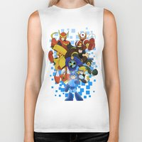 megaman Biker Tanks featuring Megaman 2 by Patrick Towers