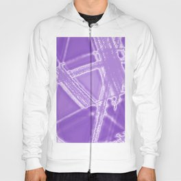 Frosty needles with chaotic blackberry winter patterns of intersecting dark thorns.  Hoody