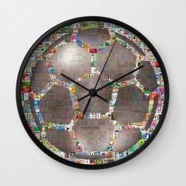 Soccer Ball on Philately Wall Clock