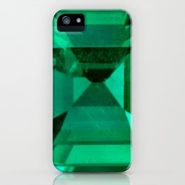 FACETED EMERALD GREEN MAY GEMSTONE iPhone Case