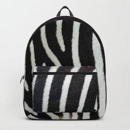 Close-up view of zebra fur animal skin - vintage abstract illustration pattern Backpack