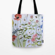 Botanical Garden Flower Wildflower Watercolor Tote Bag