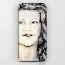 Mermaid (B/W) - Original Sketch to Digital iPhone Skin