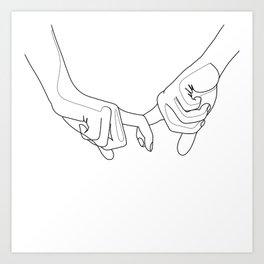 Hand in hand Art Print