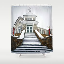 Church in the Snow Shower Curtain