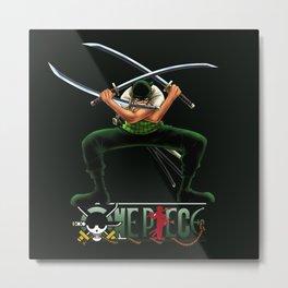 Roronoa Zoro the Swords - OnePiece Metal Print