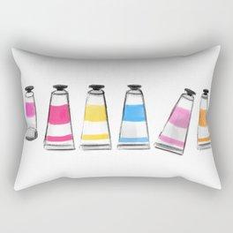 Paint Tubes Rectangular Pillow