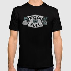 Wreck n Rule Black Mens Fitted Tee MEDIUM