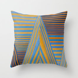Vibrating Edges Throw Pillow