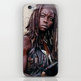 Michonne On The Walls Of Alexandria - The Walking Dead iPhone Skin