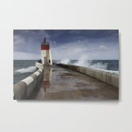 The fishermen of the lighthouse Metal Print