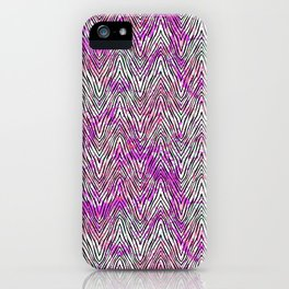 Vector zebra pattern on watercolor splashes iPhone Case