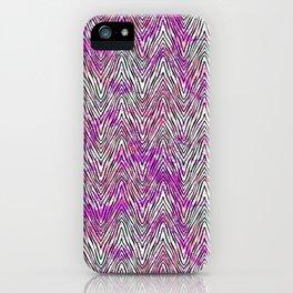Vector zebra pattern on watercolor splashes iPhone Case