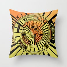 Futuristic technology abstract Throw Pillow