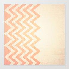 Orange Textured Chevron Canvas Print
