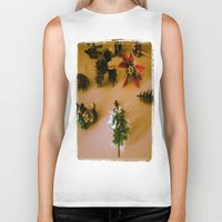 santa Biker Tanks featuring santa by gasponce