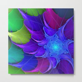 Artistic fractal abstract colour wheel Metal Print