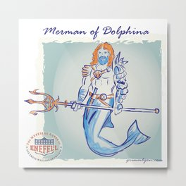 Merman of Dolphina Metal Print