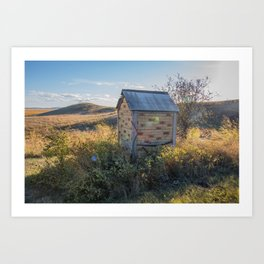 Outhouse, Hurd Round House, ND 1 Art Print