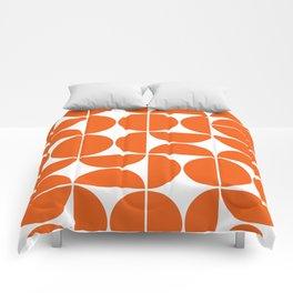 Mid Century Modern Geometric 04 Orange Comforters