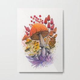 Mushroom Composition #1 Metal Print