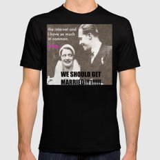 Let's marry the internet! Black Mens Fitted Tee MEDIUM