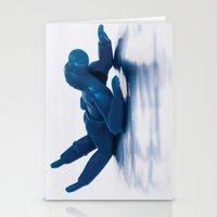 scuba Stationery Cards featuring Scuba Man by f8andcounting