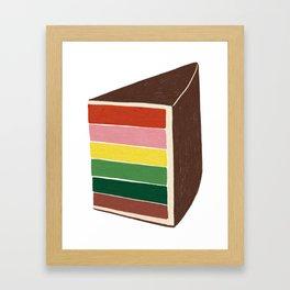 Rainbow Cake Framed Art Print