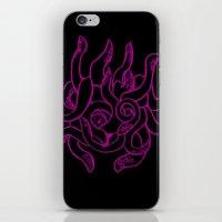 kraken iPhone & iPod Skins featuring Kraken by Glyphoteque