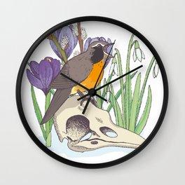 Hello, spring! Wall Clock