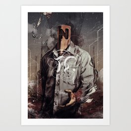 Negative Poles Art Print