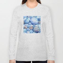 Sea Shells Aqua Long Sleeve T-shirt