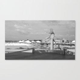 Salt flats in Marsala - Sicily Canvas Print