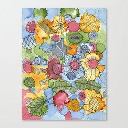 Flower doodle Canvas Print