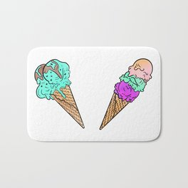 The Beastly Triple Scoop Cone Bath Mat