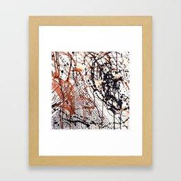 Printed splatter  Framed Art Print