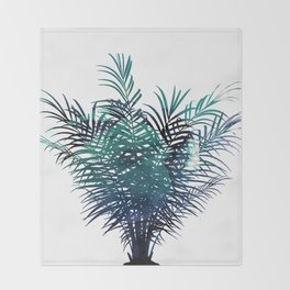 Tropical Palm Tree Throw Blanket