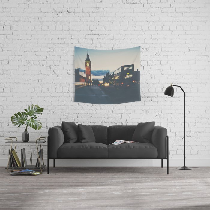 the night bus ...  Wall Tapestry