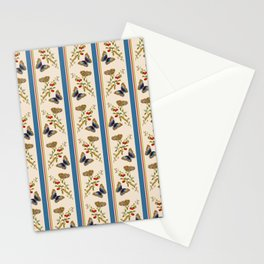 Antique Napoleonic Toile With Stripes And Butterflies Stationery Cards