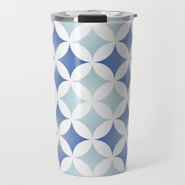 Geometric tile design inspired on traditional Portuguese tiles Travel Mug