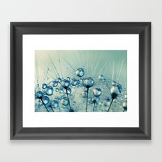 A Shower of Blue Dandy Drops Framed Art Print