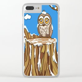 Snowflake the Owl Clear iPhone Case
